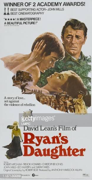Ryan's Daughter, poster, rear: Robert Mitchum, foreground l-r: Christopher Jones, Sarah Miles on poster art, 1970.