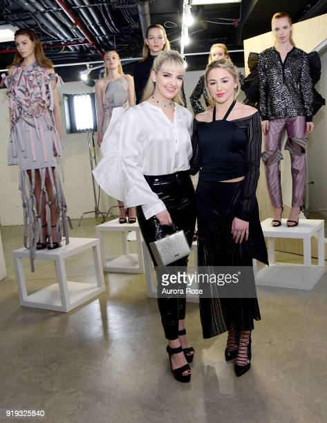 Rydel Lynch and Chloe Lukasiak attend Arianne Elmy FW18 Presentation at 151 Gallery on February 14 2018 in New York City