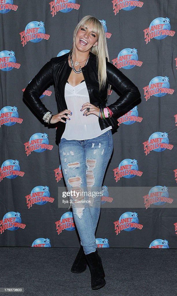 Rydel Lynch of the band R5 visit Planet Hollywood Times Square on September 2, 2013 in New York City.
