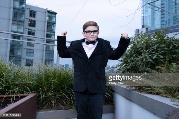 Ryder Allen gets ready for the 2021 Critics Choice Awards on March 7, 2021 in Vancouver, Canada.
