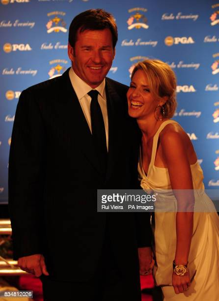 Ryder Cup captain Nick Faldo and his former wife Valerie Bercher arrive for the Ryder Cup Gala at The Kentucky Centre Louisville USA