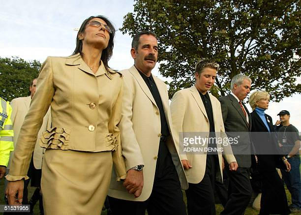Ryder Cup Team Captains Sam Torrance and his wife Suzanne and son Daniel with Curtis Strange and Sarah after the opening ceremony at the 34th Ryder...