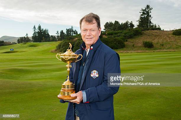 Ryder Cup USA Team Captain Tom Watson poses for a photo for the 40th Ryder Cup at Gleneagles on September 23 2014 in Auchterarder Scotland
