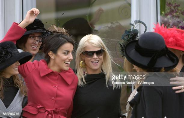 Ryder Cup wives and girlfriends Elin Woods wife of Tiger with Diane Antonopoulos girlfriend of Luke Donald at Curragh Racecourse
