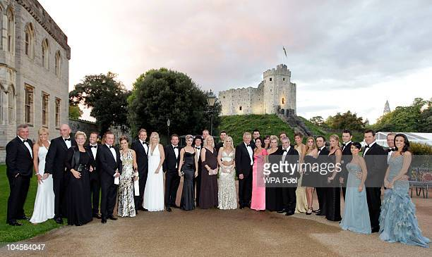 Ryder Cup...Mcc0025805 . Daily Telegraph ROYAL ROTA !!! The European Ryder Cup team with their wives and girlfriends pose for a group photo at the...