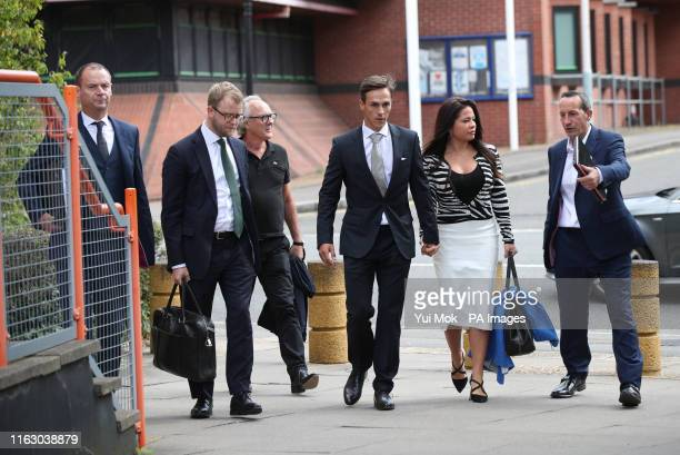 Ryder Cup-winning golfer Thorbjorn Olesen arriving at Uxbridge Magistrates' Court where he is charged with sexual assault, being drunk on an aircraft...