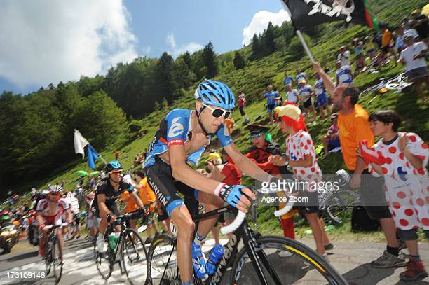Ryder Hesjedal from Canada of Team Garmin-Sharp during Stage 9 of the Tour de France on July 7, 2013 in Saint-Girons to Bagneres-de-Bigorre, France.