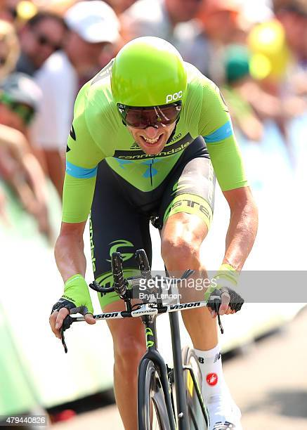 Ryder Hesjedal of Canada and Team Cannondale-Garmin competes during stage one of the 2015 Tour de France on July 4, 2015 in Utrecht, Netherlands.