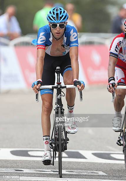 Ryder Hesjedal of Canada and Team Garmin-Sharp finishes Stage Eight of the Tour de France 2013 - the 100th Tour de France -, a 195 km road stage from...