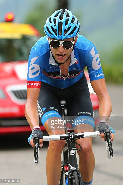 Ryder Hesjedal of Canada and Team Garmin-Sharp in action during stage nineteen of the 2013 Tour de France, a 204.5KM road stage from Bourg d'Oisans...