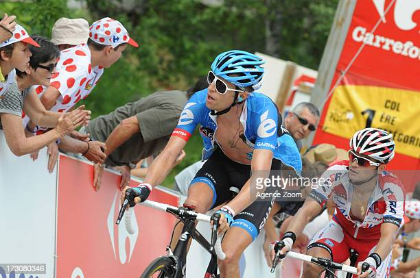 Ryder Hesjedal of Canada of Team Garmin-Sharp during Stage 8 of the Tour de France on Saturday 06 July Castres to Ax 3 Domaines, France.