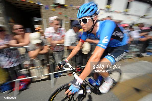 Ryder Hesjedal of Canada rides for Team Garmin-Sharp during Stage 10 of the Tour de France from Saint-Gildas-des-Bois to Saint-Malo on July 9, 2013...
