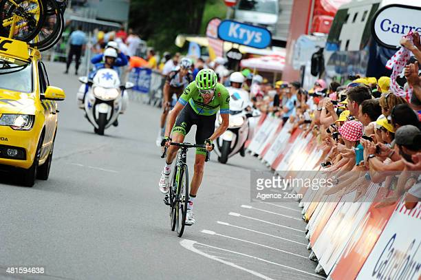 Ryder Hesjedal of Team Cannondale-Garmin competes during Stage Seventeen of the Tour de France on Wednesday 22 July 2015, Pra Loup, France.
