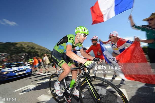 Ryder Hesjedal of Team Cannondale-Garmin competes during Stage Twenty of the Tour de France on Saturday 25 July 2015, Alpe d Huez, France.