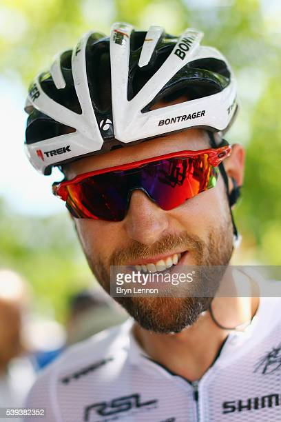 Ryder Hsjedal of Canada and Trek-Segafredo arrives at the start of stage five of the 2016 Criterium du Dauphine a 140km stage from La Ravoire to...