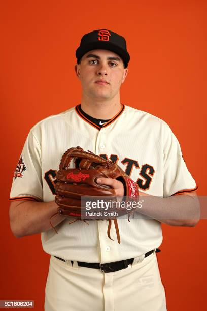 Ryder Jones of the San Francisco Giants poses on photo day during MLB Spring Training at Scottsdale Stadium on February 20 2018 in Scottsdale Arizona