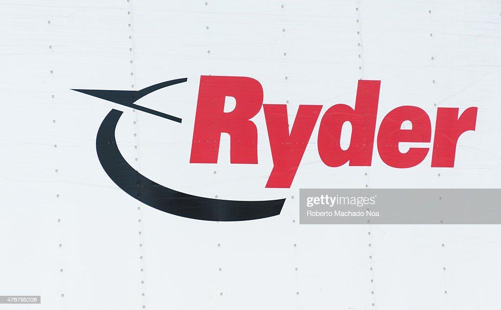 Ryder logo: Ryder System, Inc., or Ryder, is an American-... : News Photo