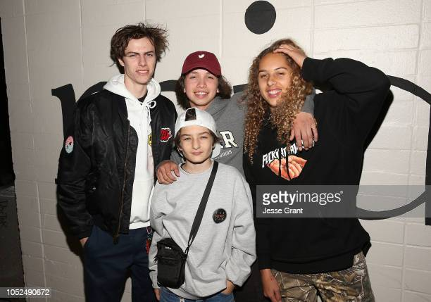 Ryder McLaughlin Gio Galicia Sunny Suljic and Olan Prenatt attend the premiere of A24's Mid90s at West LA Courthouse on October 18 2018 in Los...