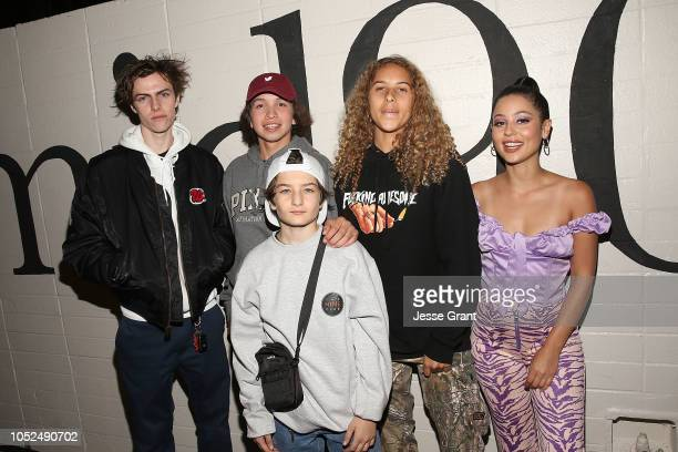 Ryder McLaughlin Gio Galicia Sunny Suljic Olan Prenatt and Alexa Demie attend the premiere of A24's 'Mid90s' at West LA Courthouse on October 18 2018...