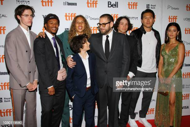 Ryder McLaughlin Nakel Smith Olan Prenatt Sunny Suljic Jonah Hill Gio Galicia Ken Kao and Alexa Demie attend the Mid90s Premiere during 2018 Toronto...