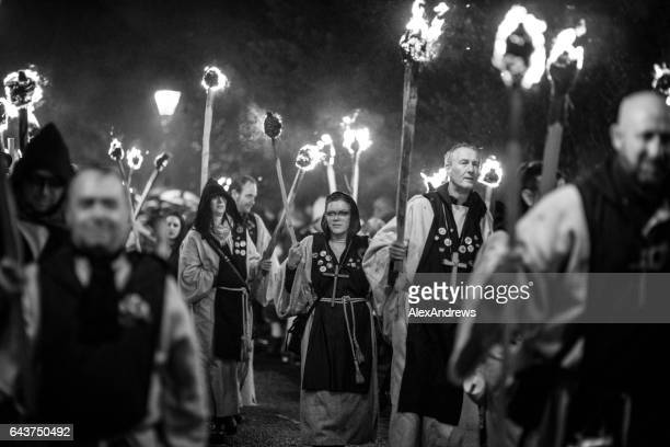 rye bonfire night - guy fawkes day stock photos and pictures