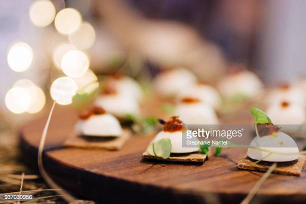 rye cracker and goat cheese - appetizer stock pictures, royalty-free photos & images