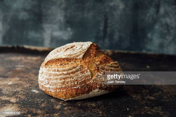 rye sourdough bread - bread stock pictures, royalty-free photos & images
