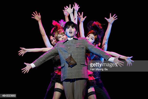 """Ryeowook of South Korean boy band Super Junior attends the press call for musical """"Agatha"""" at the Hongik Daehangro Art Center on February 24, 2015 in..."""