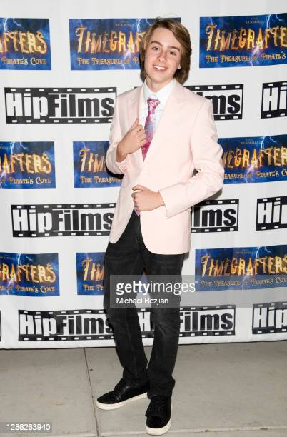 Ryker Baloun arrives at The Artists Project Hosts Portraits For The Premiere of Timecrafters on November 17 2020 in Los Angeles California