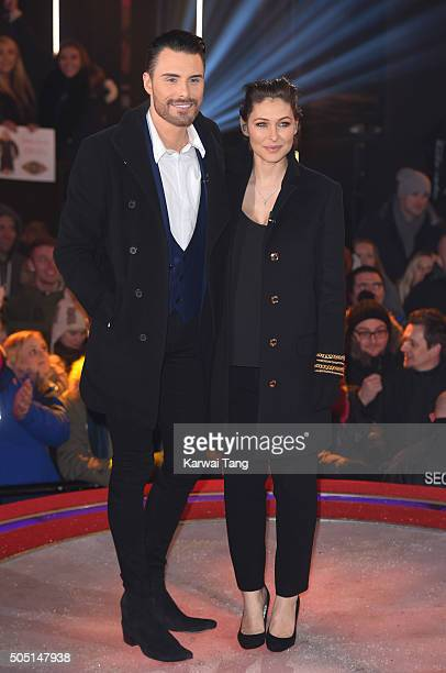 Rylan Clark and Emma Willis present from the Big Brother house at Elstree Studios on January 15 2016 in Borehamwood England