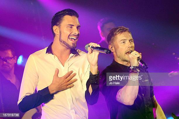 Rylan Clark and Ronan Keating perform at The Emeralds and Ivy Ball on December 1 2012 in London England