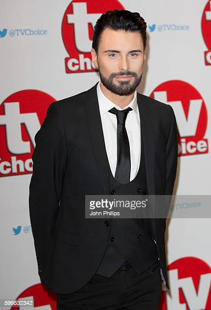 Rylan Clark arrives for the TVchoice Awards at Dorchester Hotel on September 5 2016 in London England