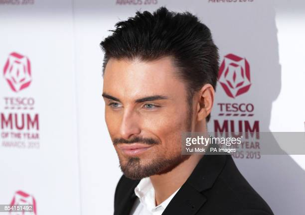 Rylan Clark arriving for the Tesco Mum of the Year Awards at The Savoy hotel in central London