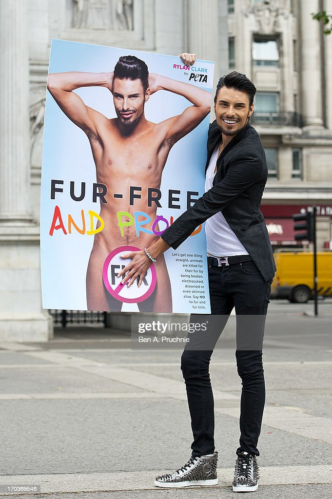 Rylan Clark Supports PETA - Photocall