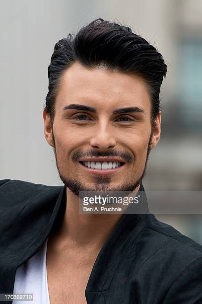 Rylan Clark attends a photocall to launch his new anti fur advert in support of PETA at Marble Arch on June 12 2013 in London England