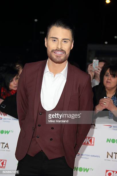 Rylan Clark attends the 21st National Television Awards at The O2 Arena on January 20 2016 in London England