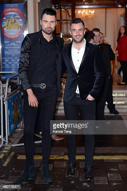 Rylan Clark attends the press night of 'I Can't Sing The X Factor Musical' at London Palladium on March 26 2014 in London England