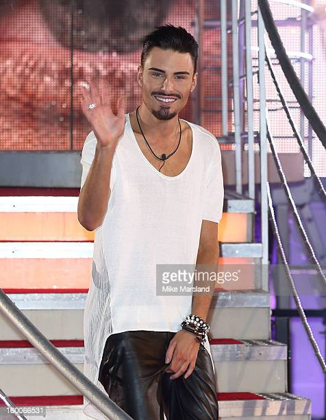 Rylan Clark is crowned winner of Celebrity Big Brother at Elstree Studios on January 25 2013 in Borehamwood England