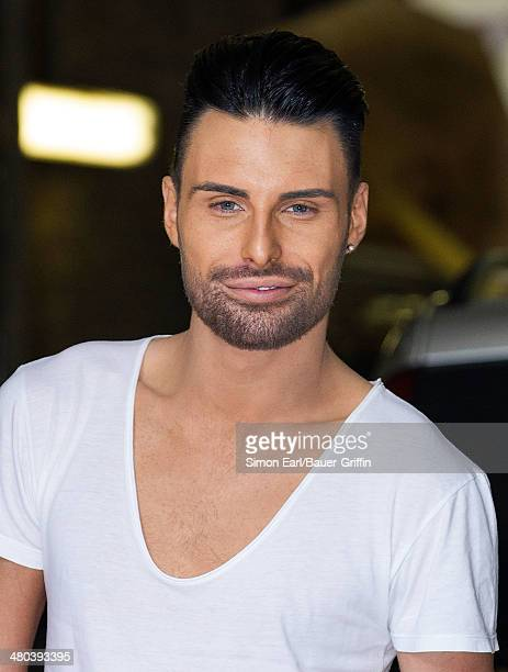 Rylan Clark is seen on August 28 2013 in London United Kingdom