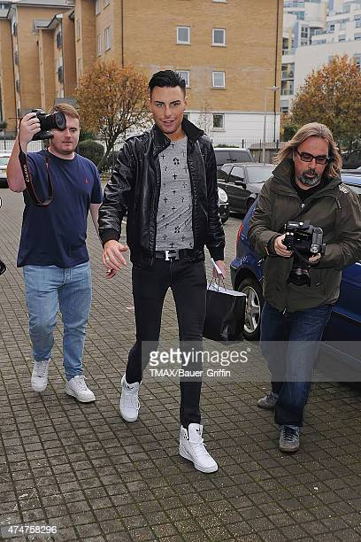 Rylan Clark is seen on October 24 2012 in London United Kingdom