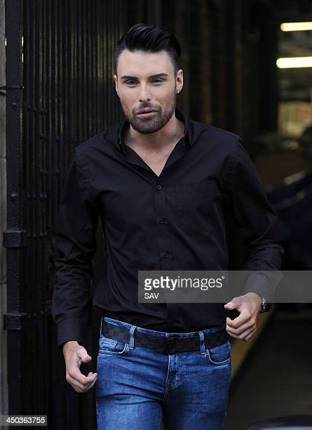Rylan Clark is sighted at the ITV studios on November 18 2013 in London England