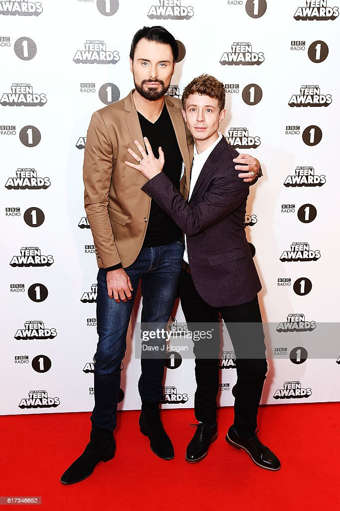 Rylan Clark Neal (L) and Matt Edmondson attend the BBC Radio 1's Teen Awards at SSE Arena Wembley on October 23, 2016 in London, England.