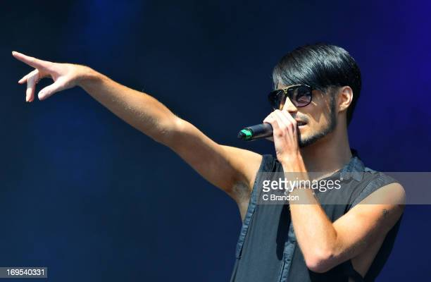 Rylan Clark performs on stage at the As One In The Park Music Festival at Victoria Park on May 26 2013 in London England