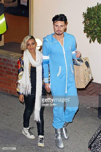 Rylan Clark with Jade Ellis are seen leaving 'The X Factor' held at Fountain Studios on October 08 2012 in London United Kingdom