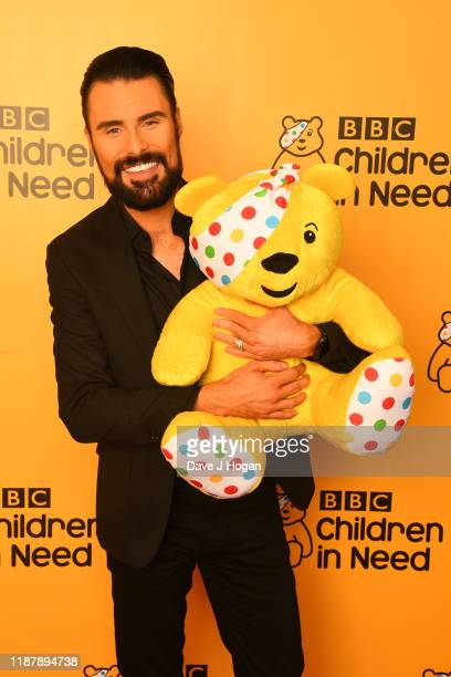 Rylan ClarkNeal backstage at BBC Children in Need's 2019 Appeal night at Elstree Studios on November 15 2019 in Borehamwood England