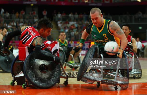 Ryley Batt of Australia in action during the Gold Medal match of Mixed Wheelchair Rugby against Canada on day 11 of the London 2012 Paralympic Games...