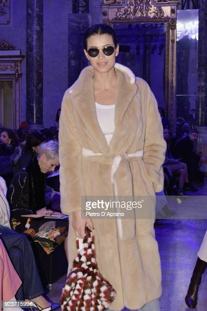 Rym Breidy attends the Simonetta Ravizza show during Milan Fashion Week Fall/Winter 2018/19 on February 24 2018 in Milan Italy