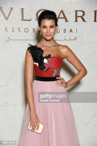 Rym Saidi attends Grand Opening Bulgari Dubai Resort on December 5, 2017 in Dubai, United Arab Emirates.