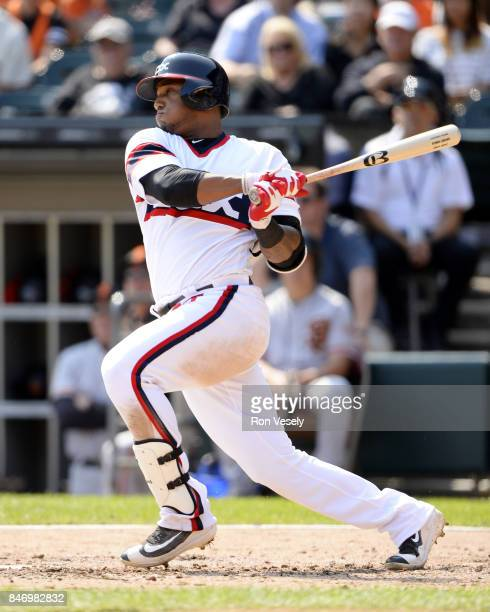Rymer Liriano of the Chicago White Sox bats against the San Francisco Giants on September 10 2017 at Guaranteed Rate Field in Chicago Illinois The...