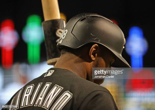 Rymer Liriano of the Chicago White Sox prepares to bat against the Cleveland Indians at Guaranteed Rate Field on September 5 2017 in Chicago Illinois